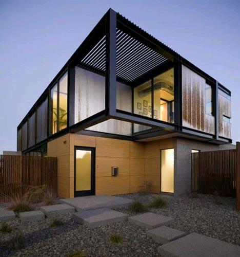 casa moderna simple diseno003 Simplemente Moderna: Linda Casa modular, Diseño y Decoración
