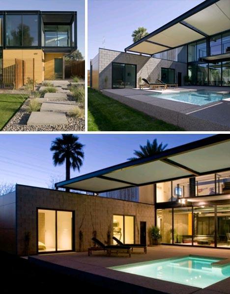 casa moderna simple diseno004 Simplemente Moderna: Linda Casa modular, Diseño y Decoración