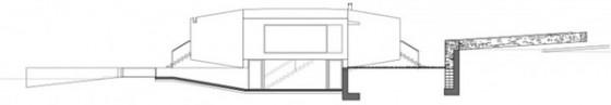 Plano fachada e interior Pocafarina, casa en Girona, España