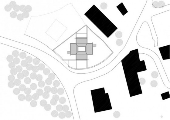 Plano alzada Pocafarina, casa en Girona, España