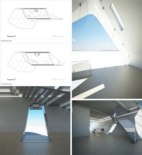 Casa con forma de rollo en California Interiores Entrada de luz