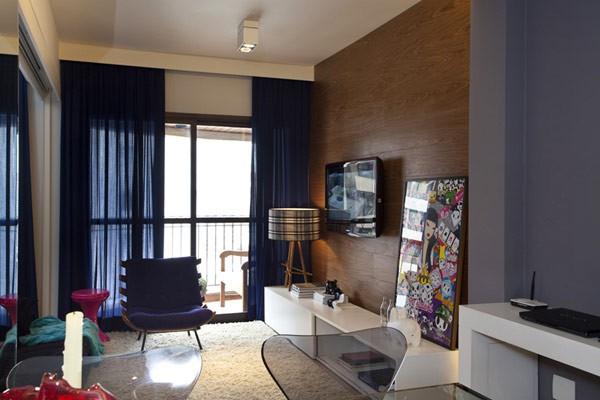 Cómo distribuir armoniosamente los espacios en un apartamento de 45 M2 – Caso en Brasil