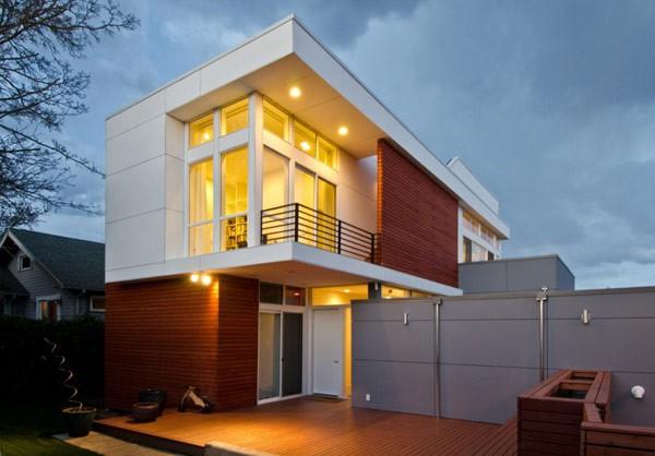 Imagen de fachadas de casas de dos plantas (4)