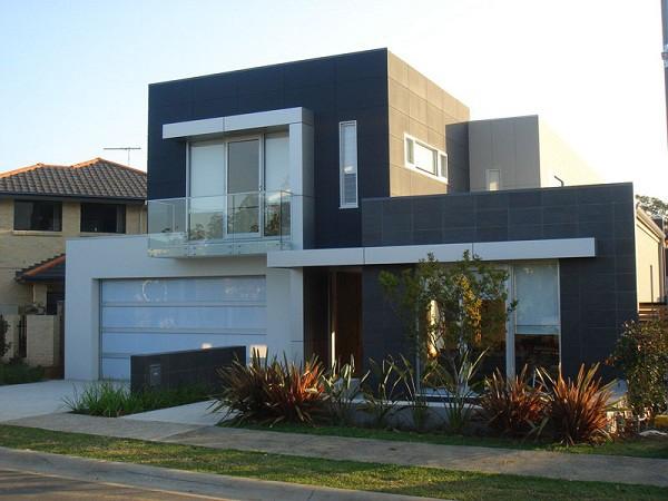 Imagen de fachadas de casas de dos plantas (2)