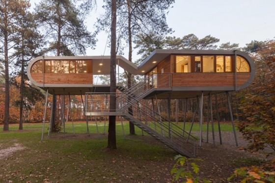 Casa de árbol en Bélgica para adultos (21)