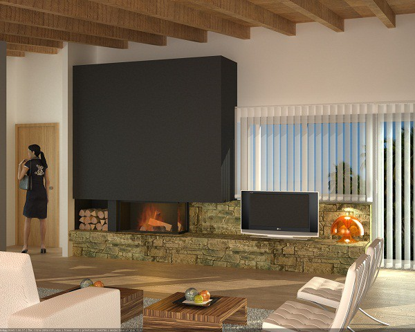 decoracin chimeneas modernas