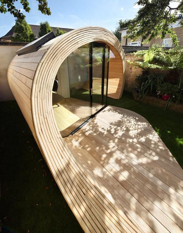 Oficina en el jardín para casas ruidosas (7)