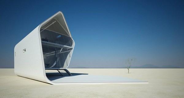 Diseño futurístico en California – La casa enrollada (5)