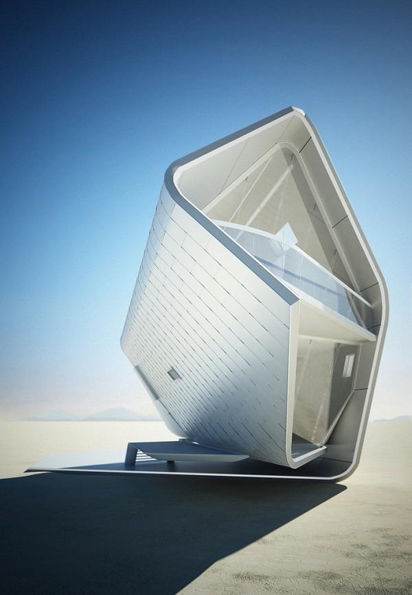 Diseño futurístico en California – La casa enrollada (4)