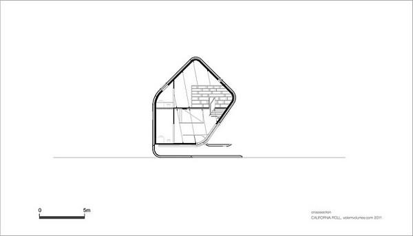 Diseño futurístico en California – La casa enrollada (2)
