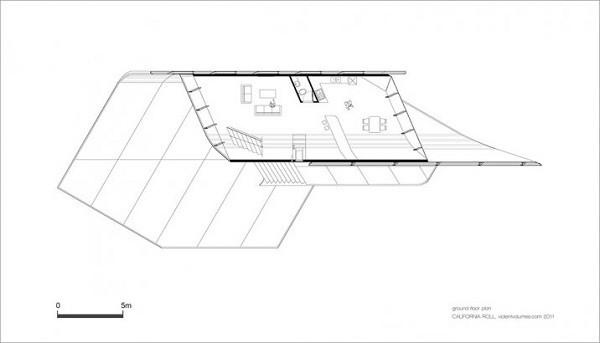 Diseño futurístico en California – La casa enrollada (1)
