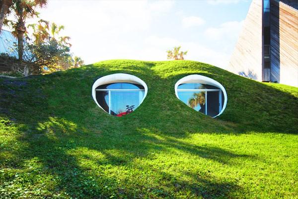 Fachadas de casas bajo la tierra (4)
