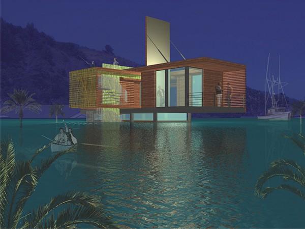 Casa moderna de madera a prueba de inundaciones by peek ancona (4)