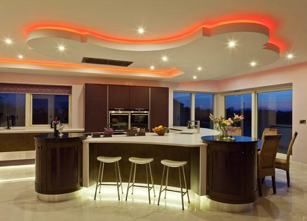 Iluminacion De Cocinas Modernas Mundo Casascom - Iluminacion-en-cocinas-modernas