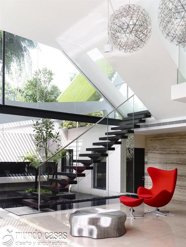 Terrenos ondulados base de una casa moderna maravillosa en Singapur (12)