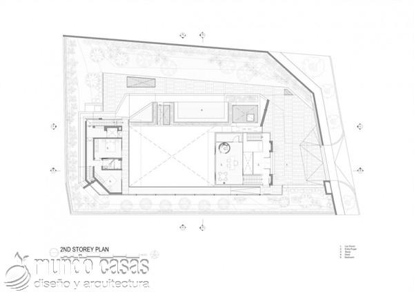 Terrenos ondulados base de una casa moderna maravillosa en Singapur (17)