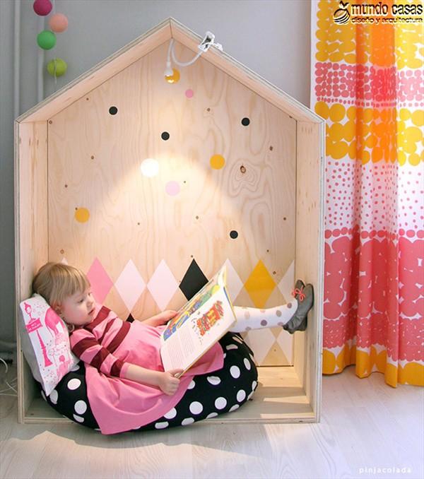 Casita de madera para que tus niños lean (2)