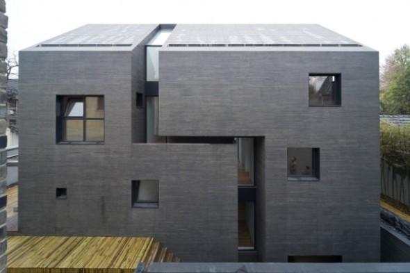 Excelente diseño de vivienda en casa de hormigón prensado