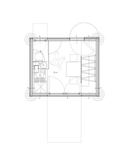 Planos de la homebox casa de madera de tres pisos en terreno pequeño (2)