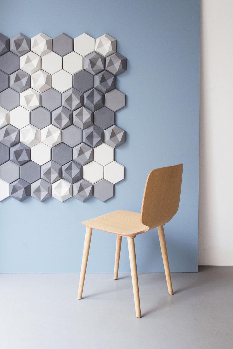 Azulejos de concreto hexagonales