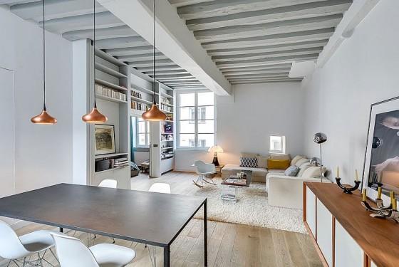 Interiores de apartamento decorado con elementos de cobre (10)