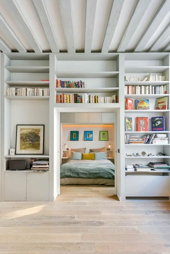 Interiores de apartamento decorado con elementos de cobre (2)