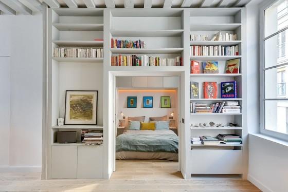 Interiores de apartamento decorado con elementos de cobre (6)