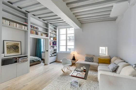 Interiores de apartamento decorado con elementos de cobre (7)