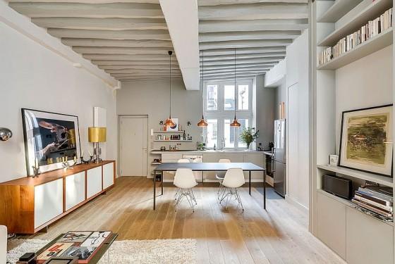 Interiores de apartamento decorado con elementos de cobre (8)