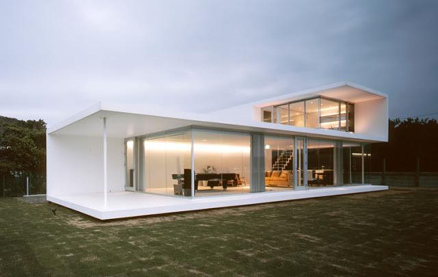 exquisito diseo de casas minimalistas de un piso - Casas Minimalistas
