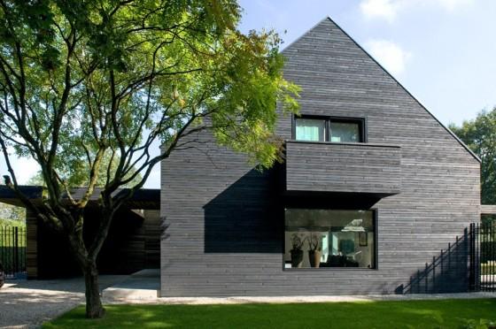 Una casa de vista de perfíl