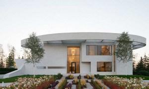 Elegante casa cerca de Moscú con alarde de Arquitectura Redonda