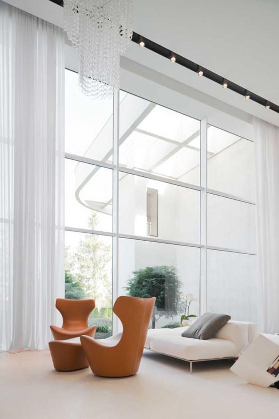 lamparas y ventanas lujosas