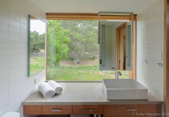 el baño amplio y ventilado