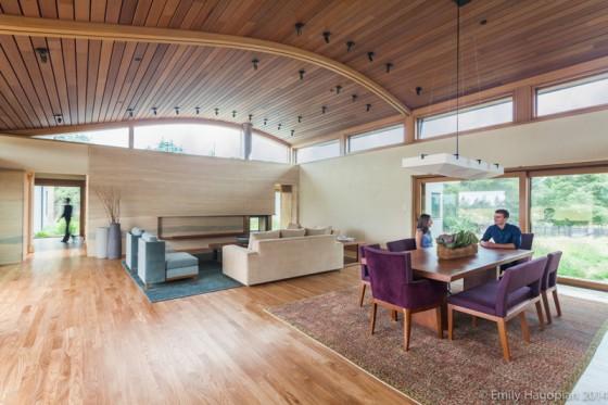 un diseño interior de madera