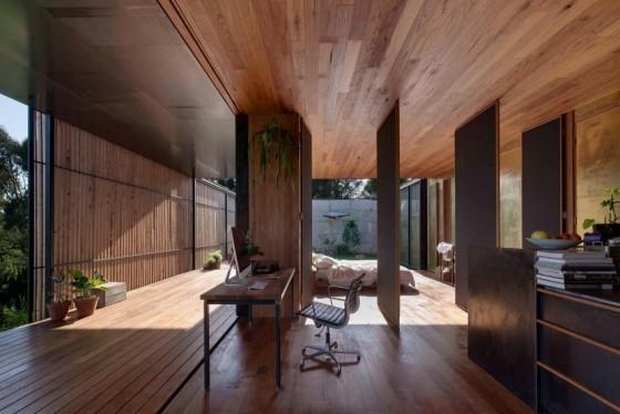 diseño con madera y concreto