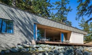 Lugar de retiro contemporáneo en la isla de Orcas de Washington