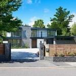 Casa Contemporánea en Inglaterra que combina la piedra y el cristal  en un  entorno moderno