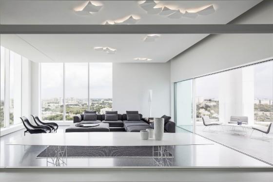 amplia sala moderna