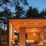 Casa Serena impresionante vacaciones en Suecia que se esconde entre árboles de pino
