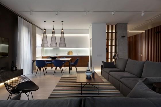 moderna sala muy amplia