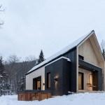 Moderno hogar escandinavo para una pareja joven ubicado en medio de la nada en Charlevoix, Canadá