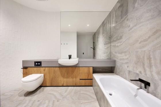 hermosa decoración del baño