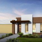 Exquisito diseño de casas minimalistas de un piso