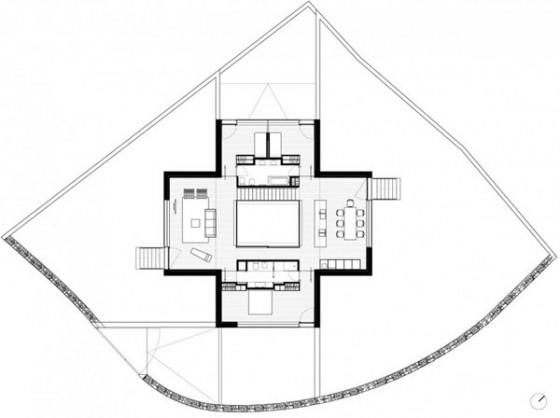 Plano distribución Pocafarina, casa en Girona, España