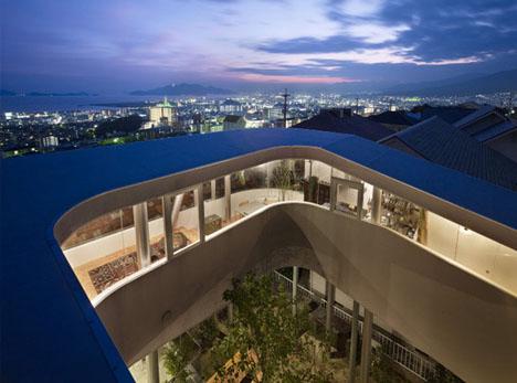 Espiral tejado superior cubierta vista