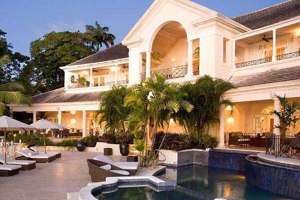 Casa Cove Spring en Barbados Construida sobre un arrecife de piedras de coral: