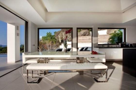 Moderna residencia con vista al mar Salón