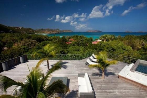 Moderna residencia con vista al mar Terraza