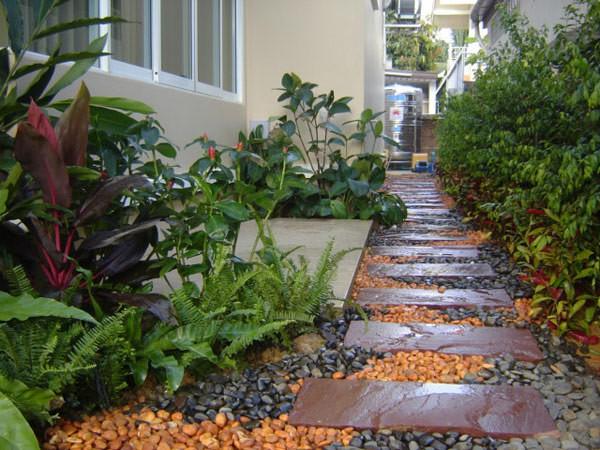 Imagen de distintos modelos de caminitos para jardines
